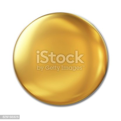 istock Golden Badge Isolated Over White Background 529193325