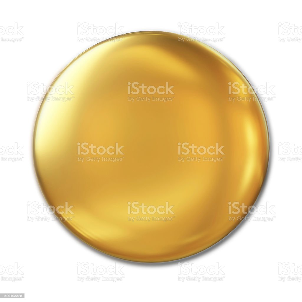 Golden Badge Isolated Over White Background stock photo