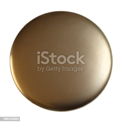 Blank Golden Badge Isolated On White