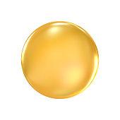 golden badge 3d illustration