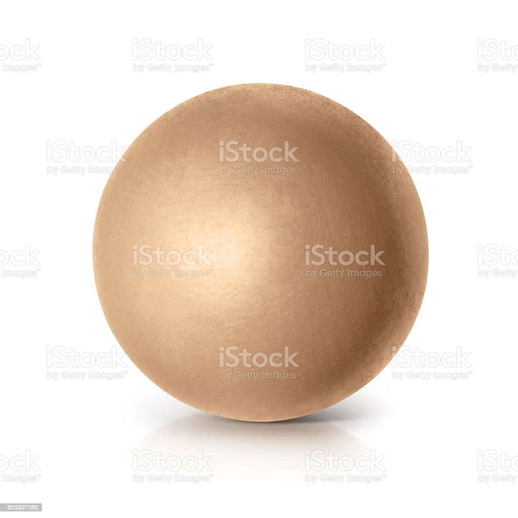 Golden ball 3D illustration stock photo