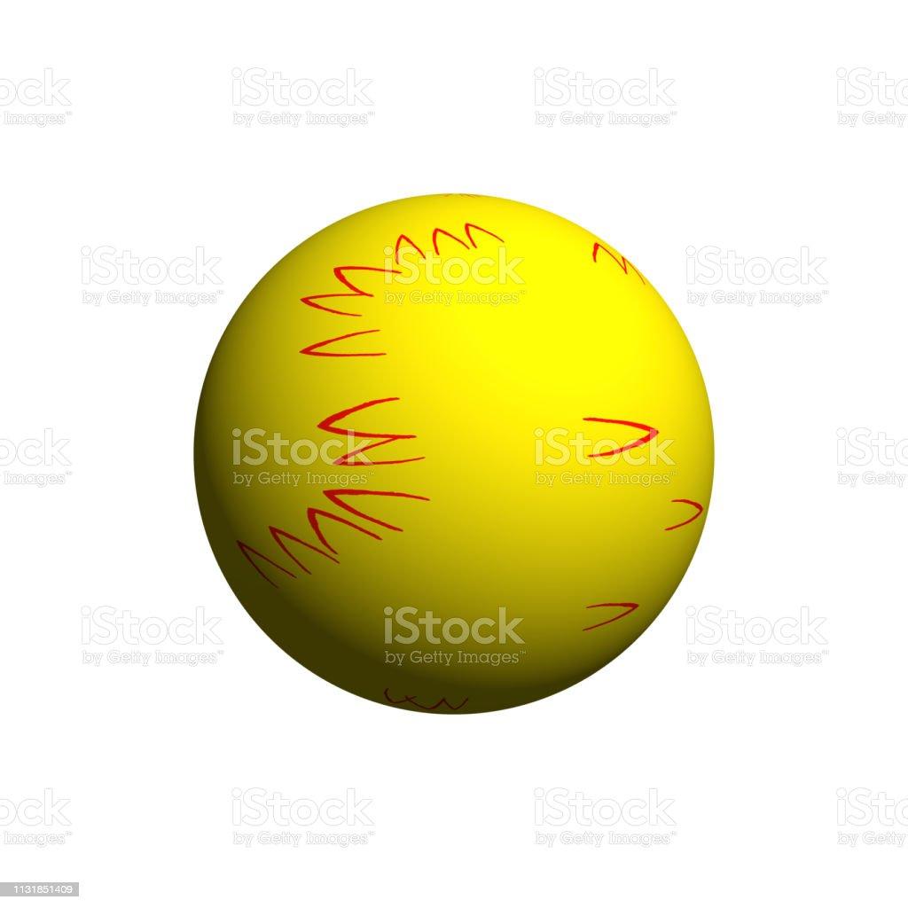 golden ball isolated stock photo