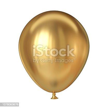 istock Golden balloon 3D 1078063676