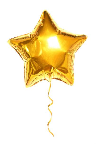 star du ballon d'or sur fond blanc - Photo