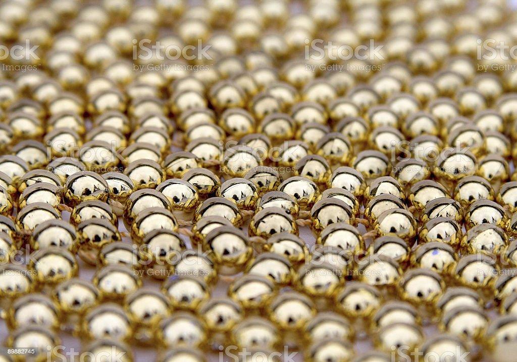 Золотой мяч украшения Стоковые фото Стоковая фотография