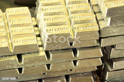 Golden metal bars