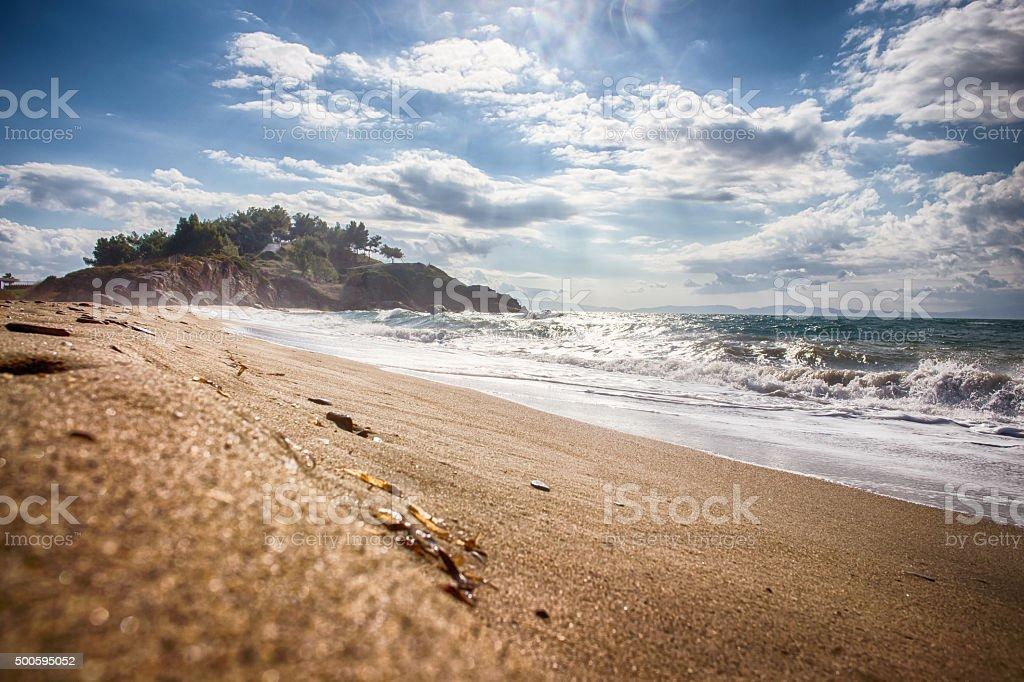 Golden Beach izmir Turkey stock photo