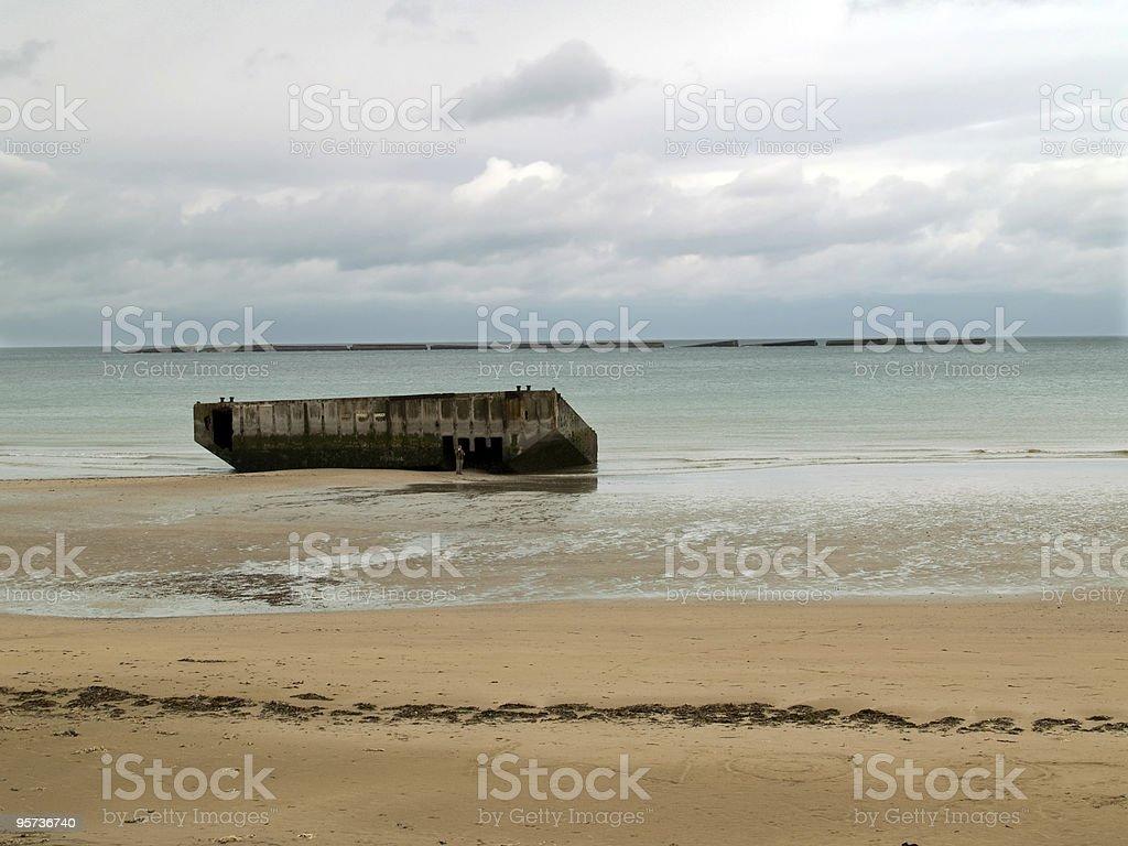 Golden Beach, Normandy royalty-free stock photo