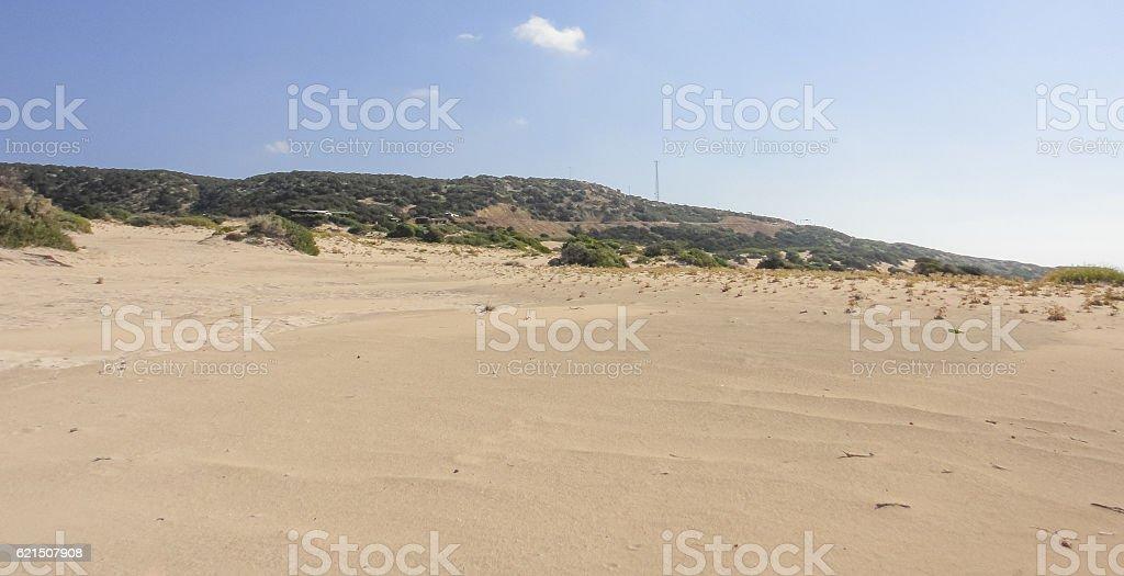 Golden beach of Karpasia. Northern Cyprus photo libre de droits