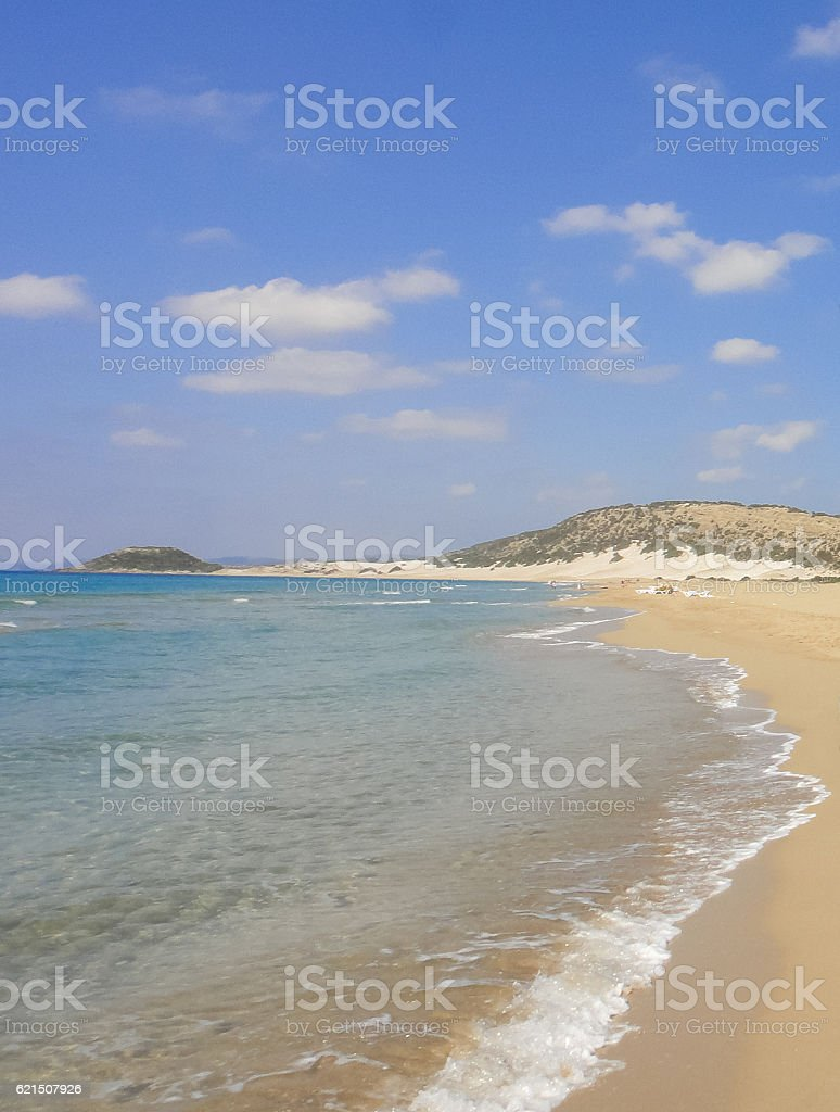 Golden beach of Karpasia. Northern Cyprus Lizenzfreies stock-foto