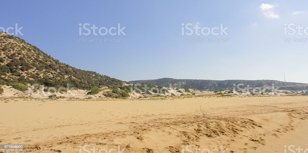 Golden beach of Karpasia. Northern Cyprus Lizenzfreies stock-foto