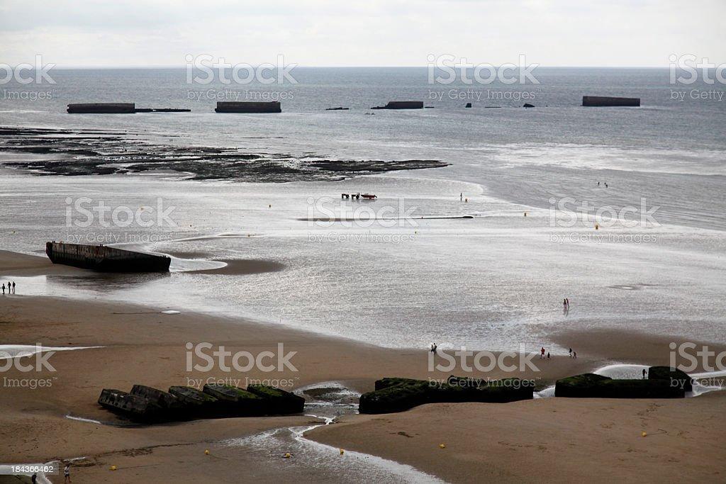 Golden beach stock photo