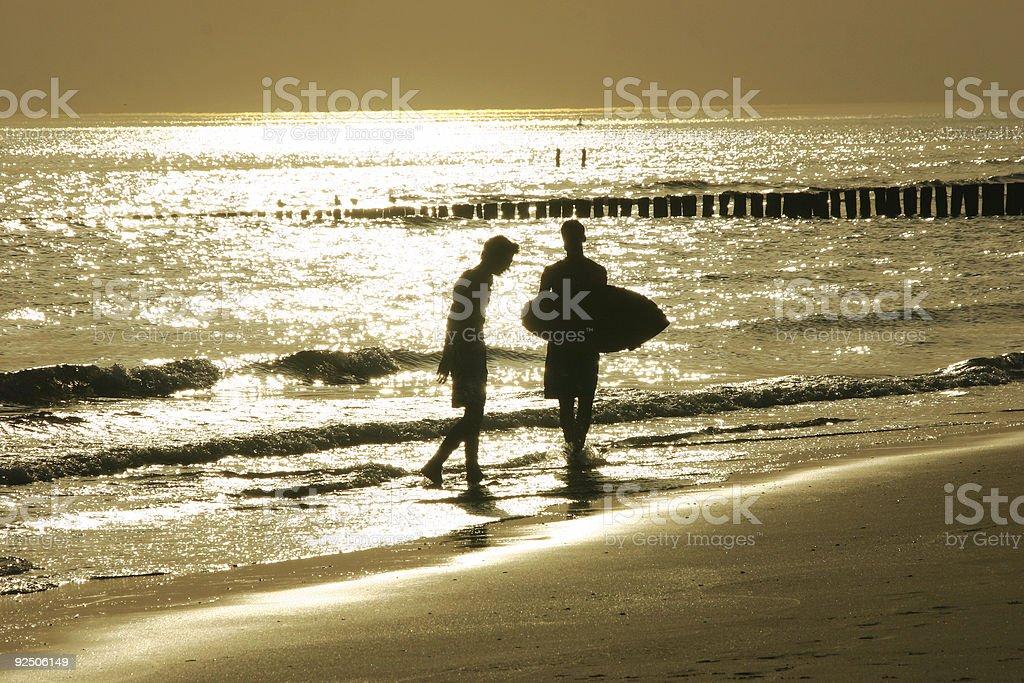 golden beach royalty-free stock photo