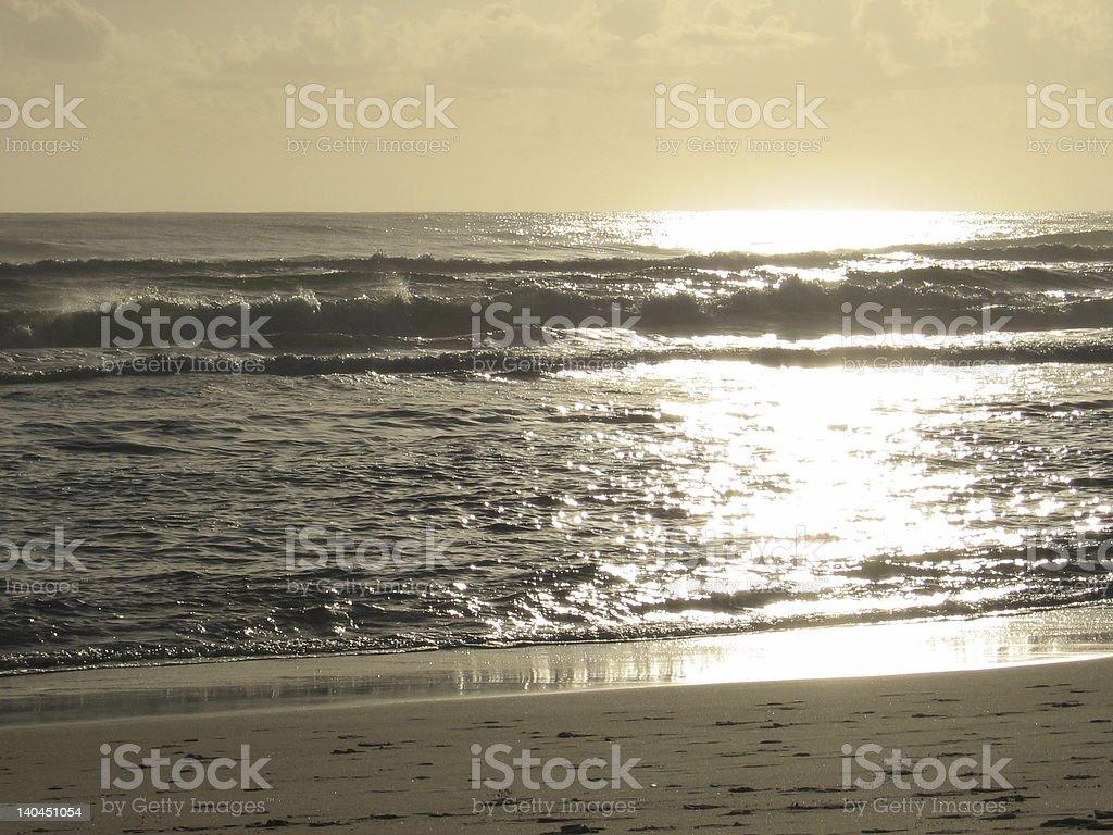 Golden Beach Sunrise 2 royalty-free stock photo