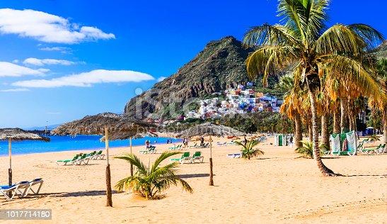 istock Golden beautiful beach Las Teresitas - Teneride island 1017714180
