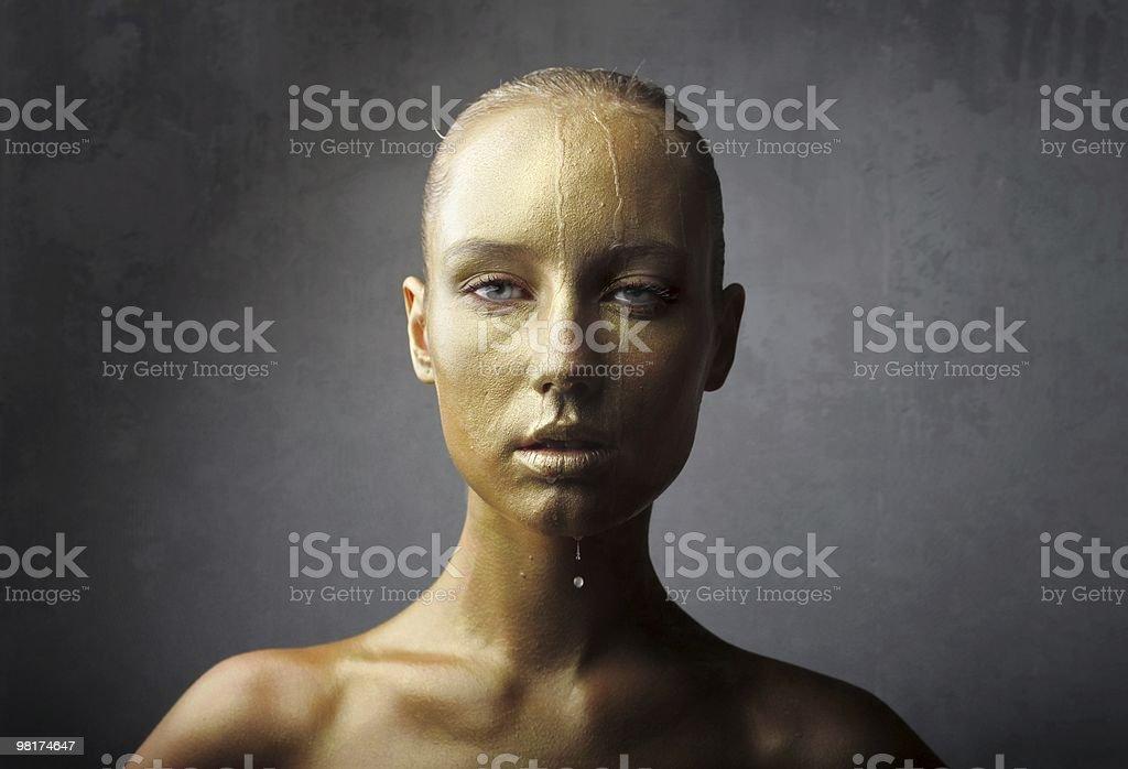 Golden bellezza foto stock royalty-free