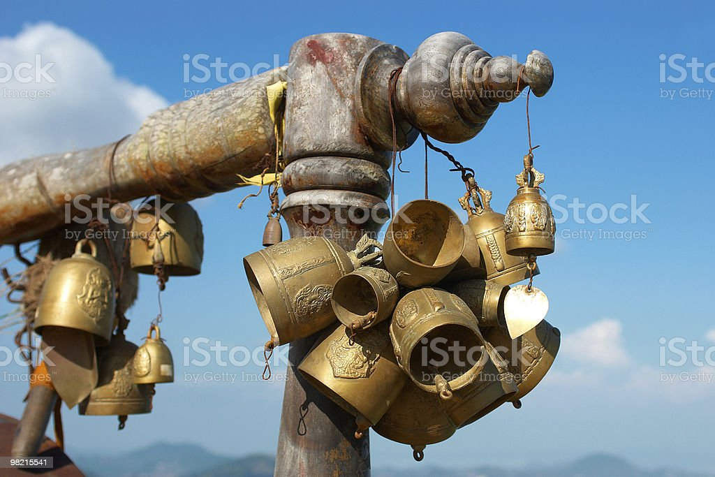 golden bells in thailand royalty-free stock photo