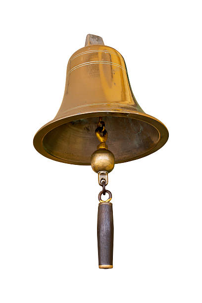 golden Bells old, Clipping path stock photo