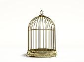 Golden birds cage