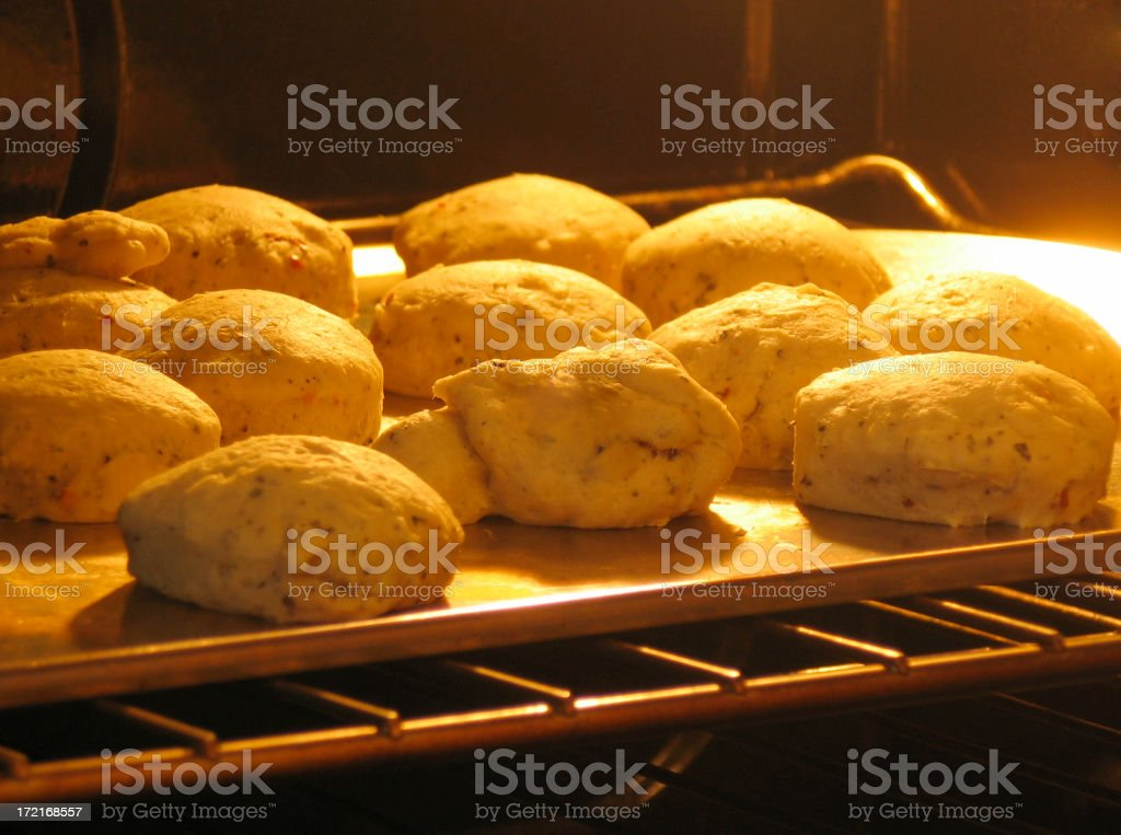 Golden Biscuits royalty-free stock photo