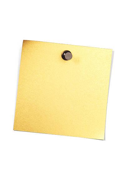 Golden leere Hinweis. – Foto