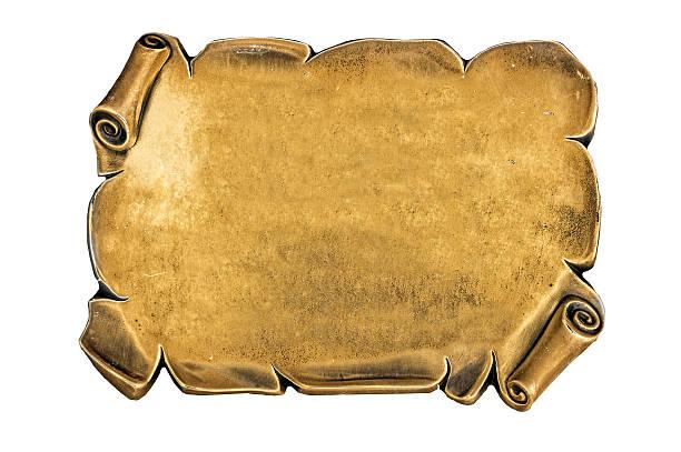 golden Placa ciega - foto de stock