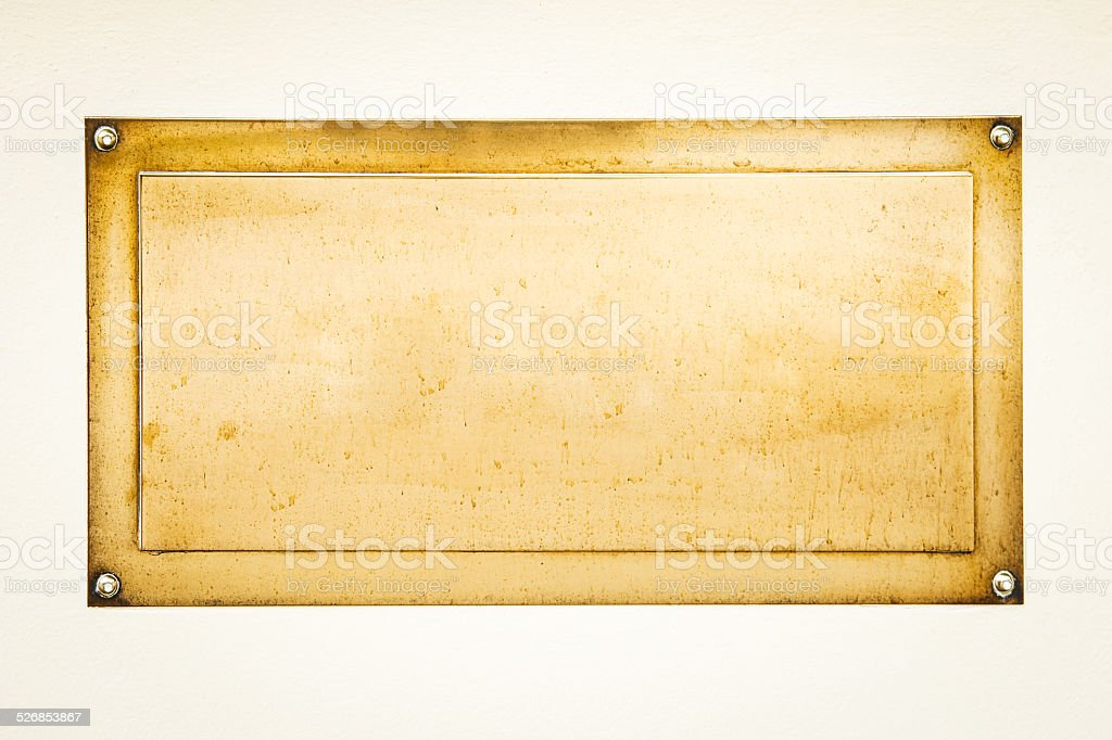 golden blank sign stock photo