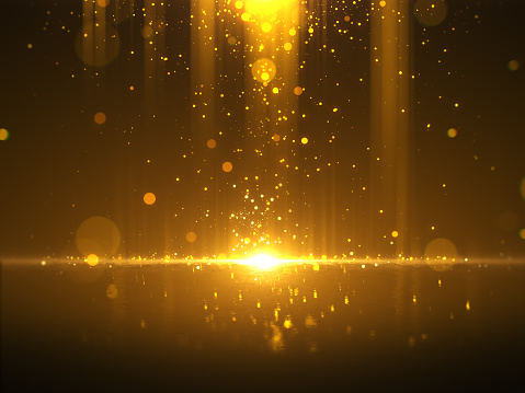 666540036 istock photo Golden bokeh glamour abstract background 998274956