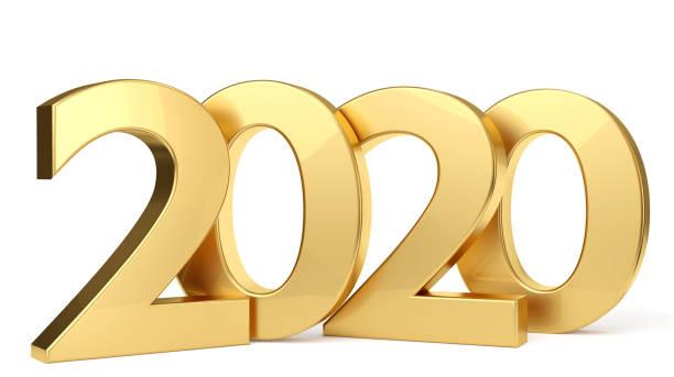 2020 golden fetten Buchstaben 3d-illustration – Foto