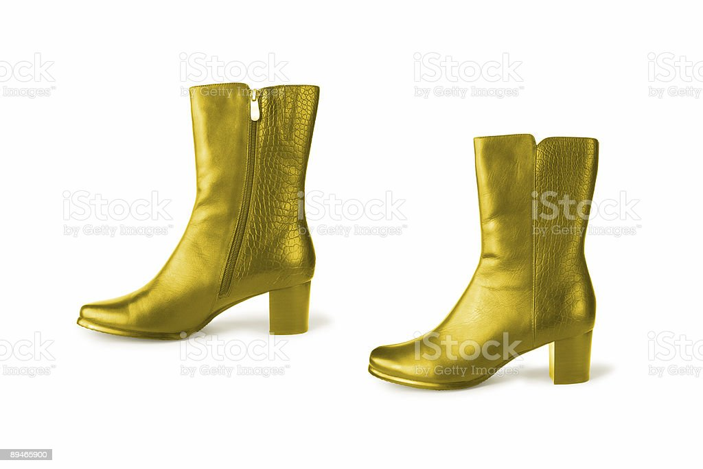 Golden boots royalty-free stock photo