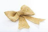 istock Golden bow on white background 1029297992