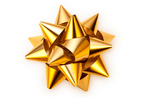 Golden bow. Photo with clipping path. Similar photographs from my portfolio: