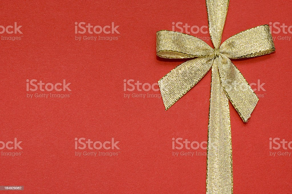 Golden Bow stock photo