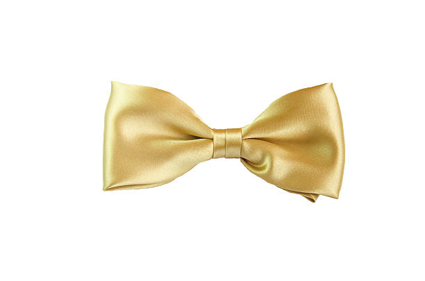 Golden Bow Tie Golden Yellow Bow Tie for girl Kid Children bow tie stock pictures, royalty-free photos & images