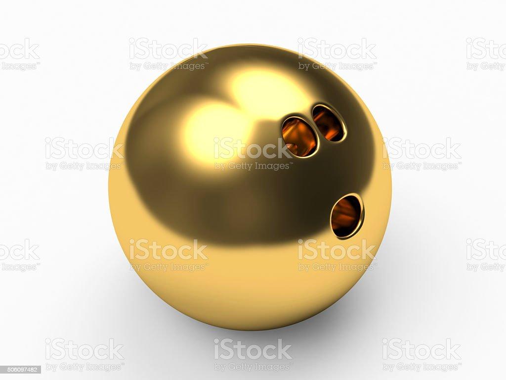 Golden bowling ball – Foto