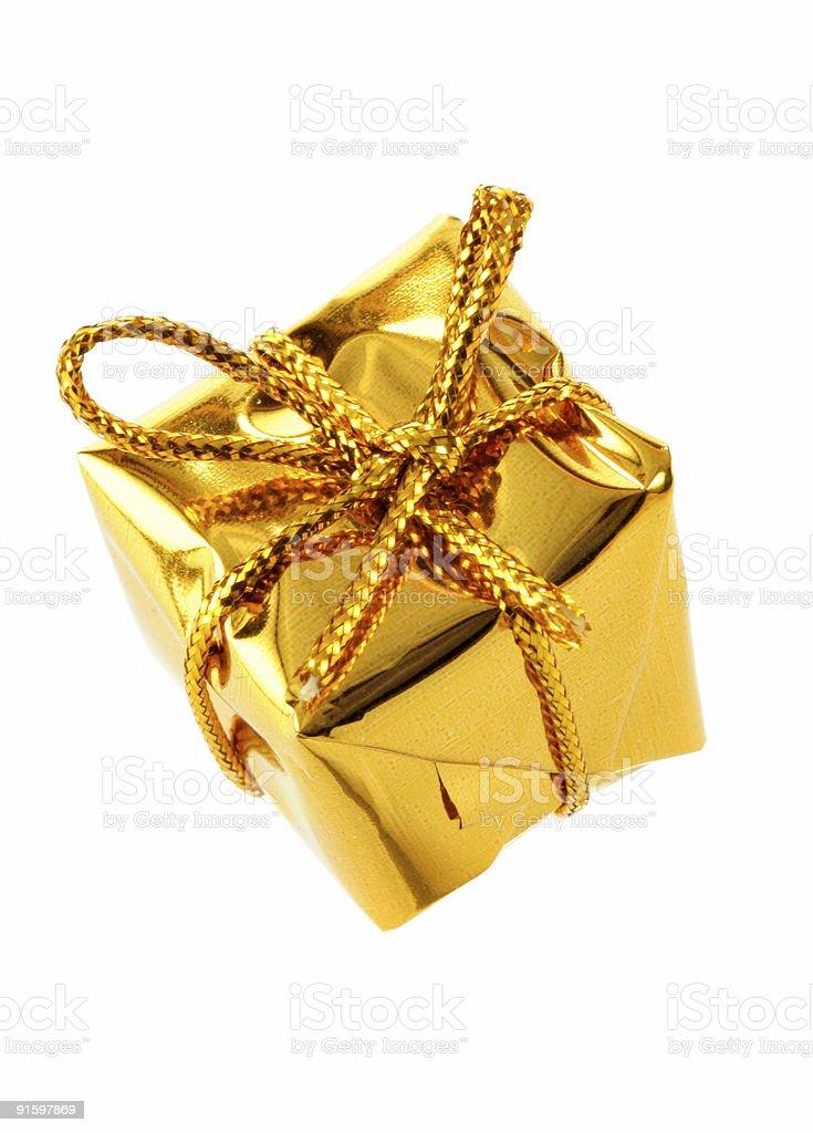 Golden box royalty-free stock photo