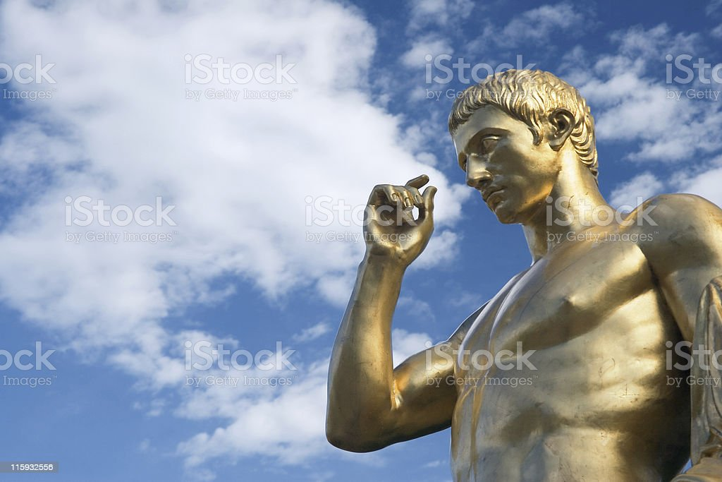 Golden boy royalty-free stock photo
