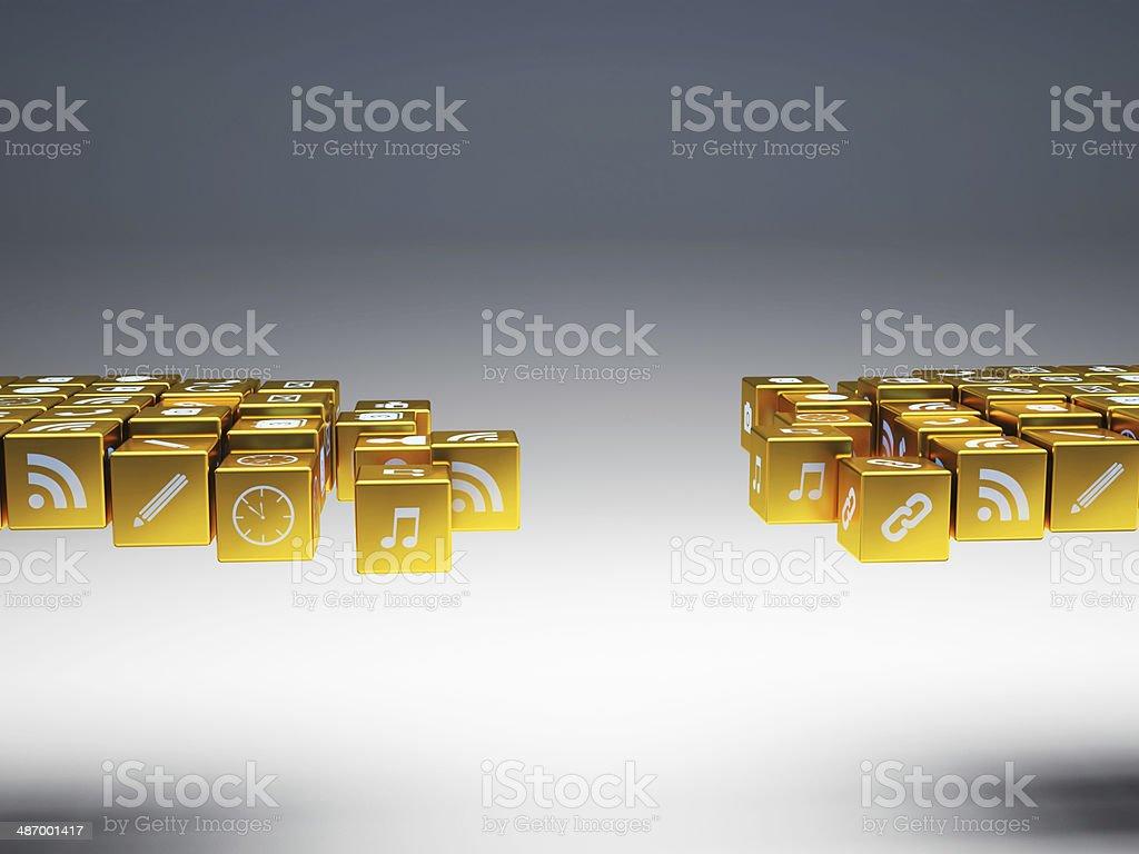golden bridge stock photo
