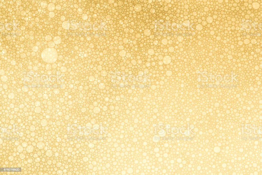 Golden Bubbles Background stock photo