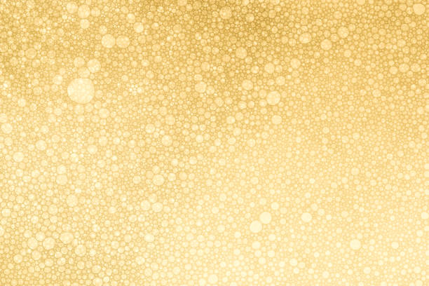 golden bubbles background - bubble stock pictures, royalty-free photos & images