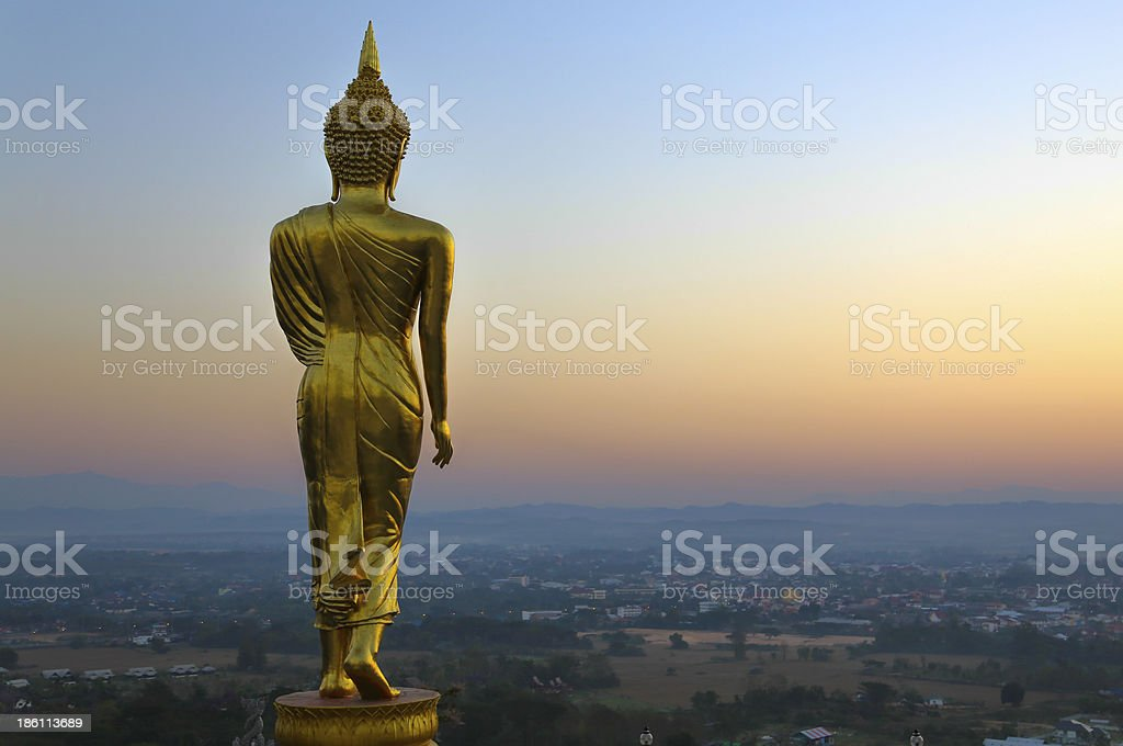 golden buddha from thailand royalty-free stock photo
