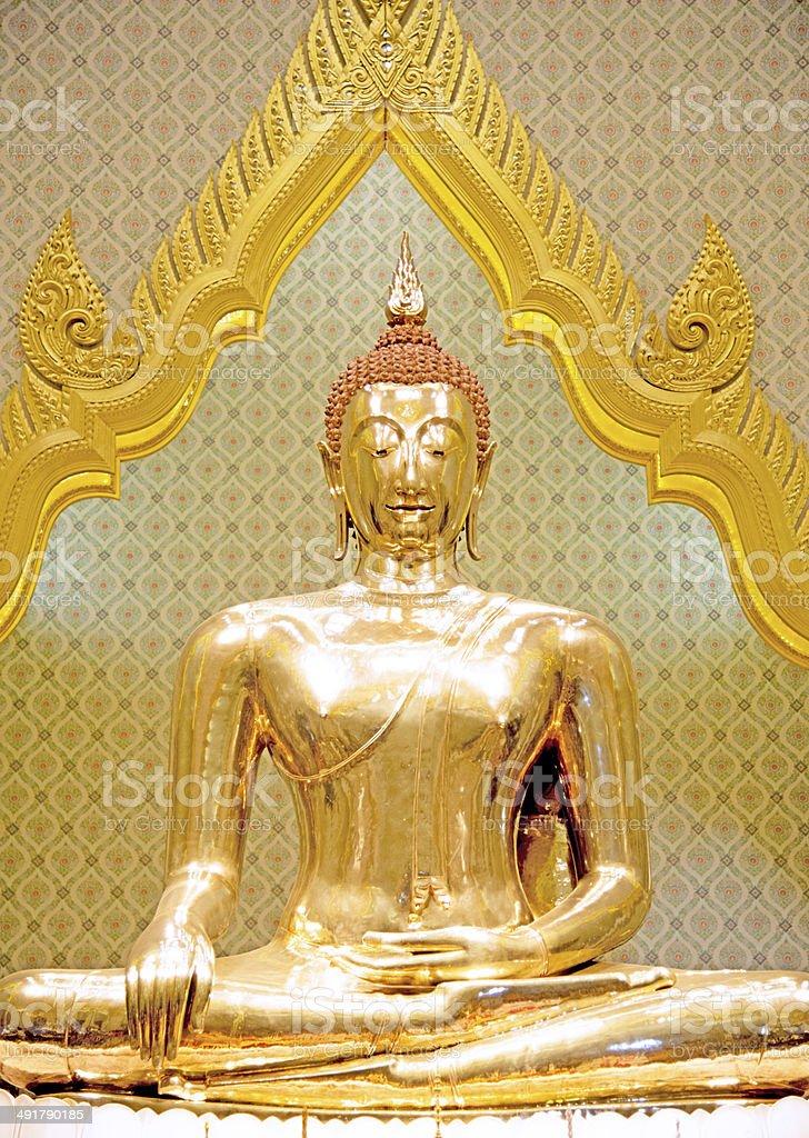 Golden Buddha image stock photo