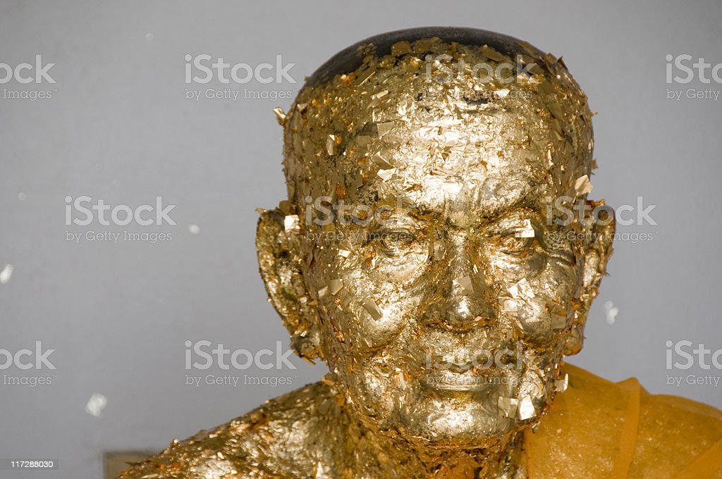 Golden Buddha In Thailand royalty-free stock photo