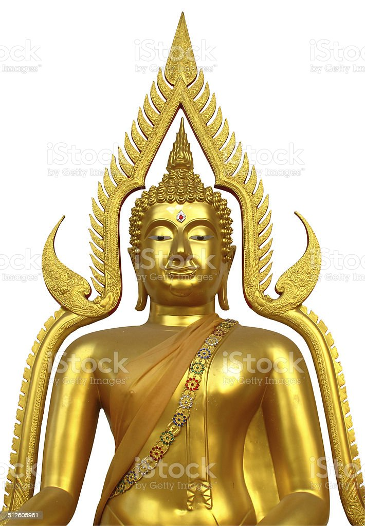 Golden Buddha isolated stock photo