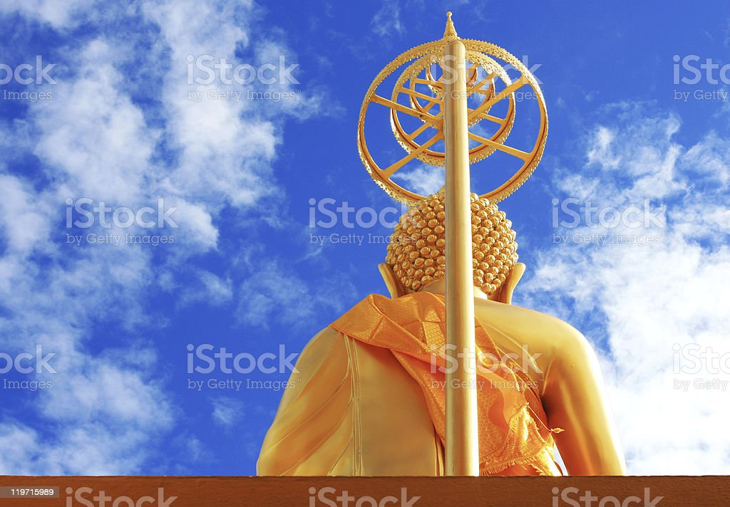 Golden Buddha royalty-free stock photo