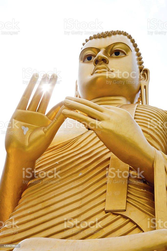 Golden Buddha royalty-free stock photo