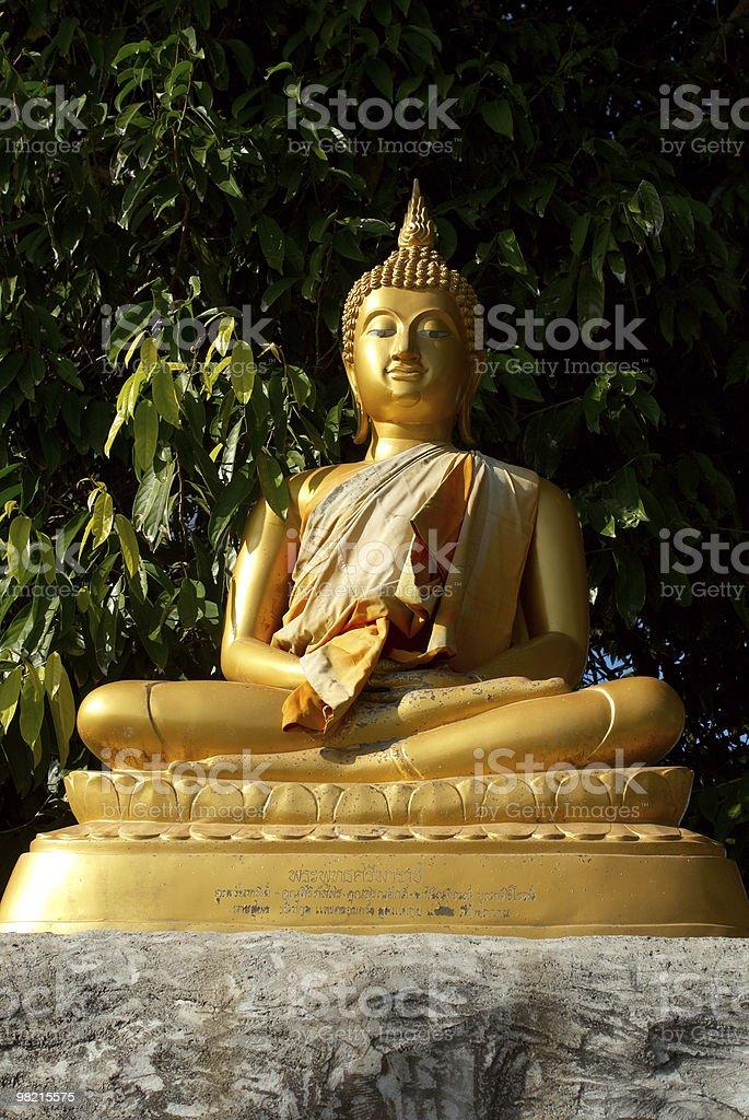 Buddha dorato foto stock royalty-free