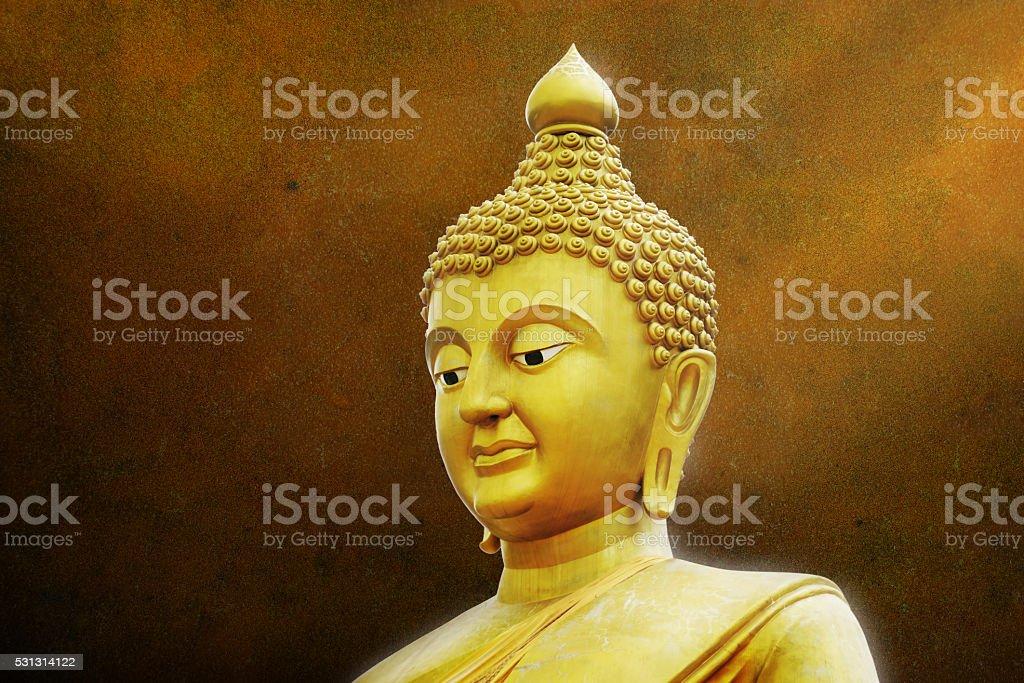 Golden Buddha Portrait stock photo