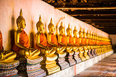 Golden Buddha Sorted in ancient temples.