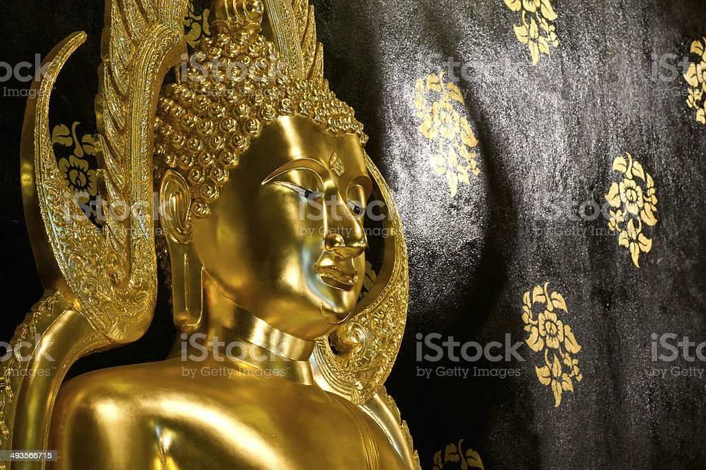 Golden Buddha statue. royalty-free stock photo